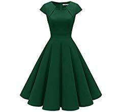 homrain damen 50er vintage retro kleid party kurzarm