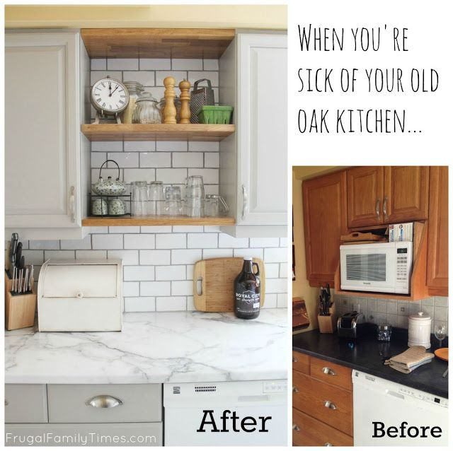 Kitchen Updates Before And After: When You're Sick Of Your Old Oak Kitchen...(Kitchen Update