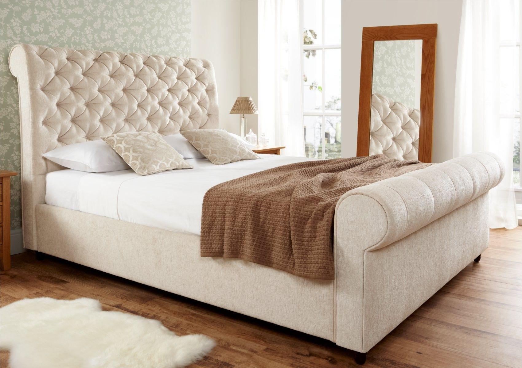 Elegance Upholstered Sleigh Bed