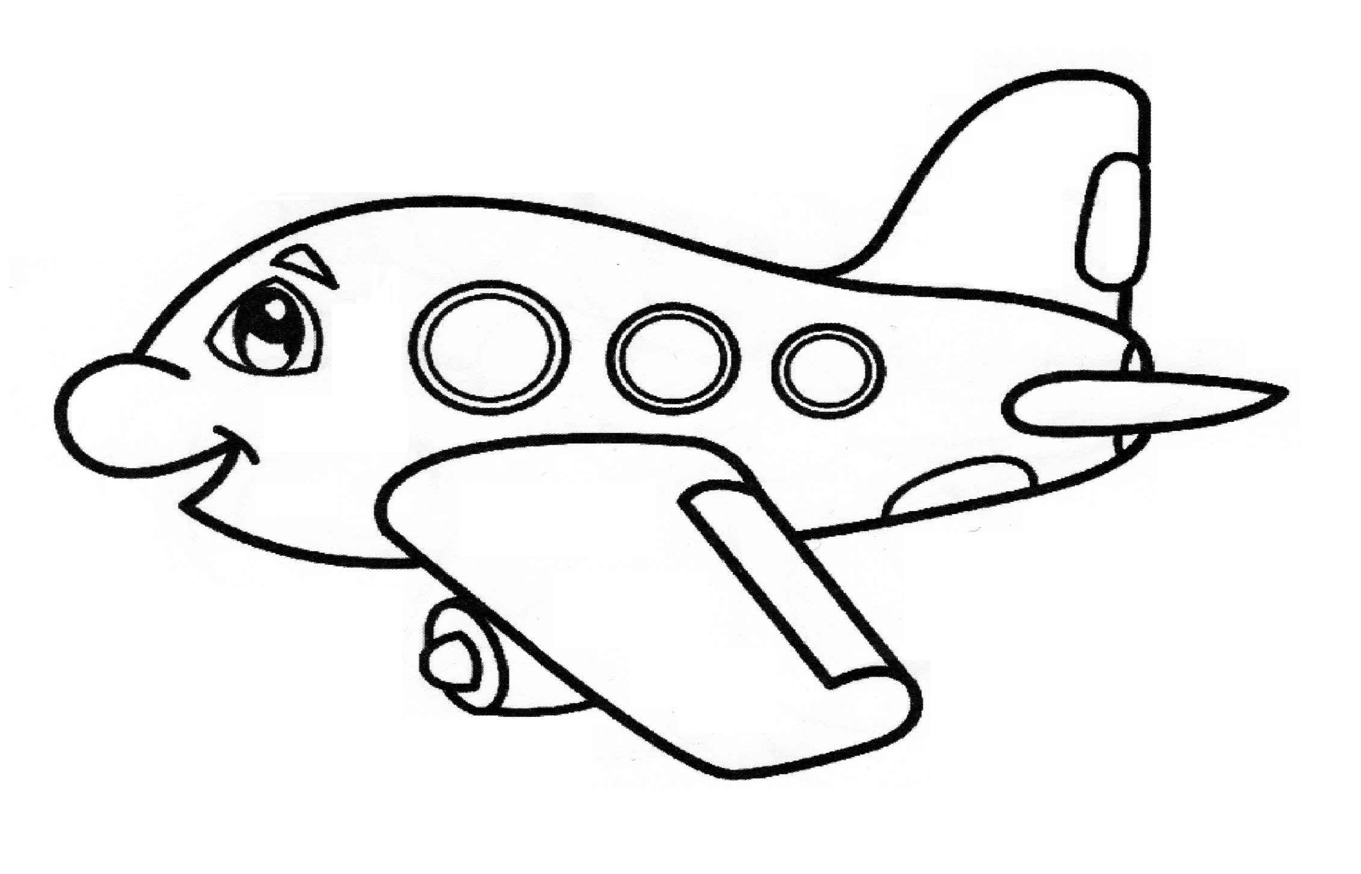 Airplane Coloring Page For Preschool And Kindergarten Preschool