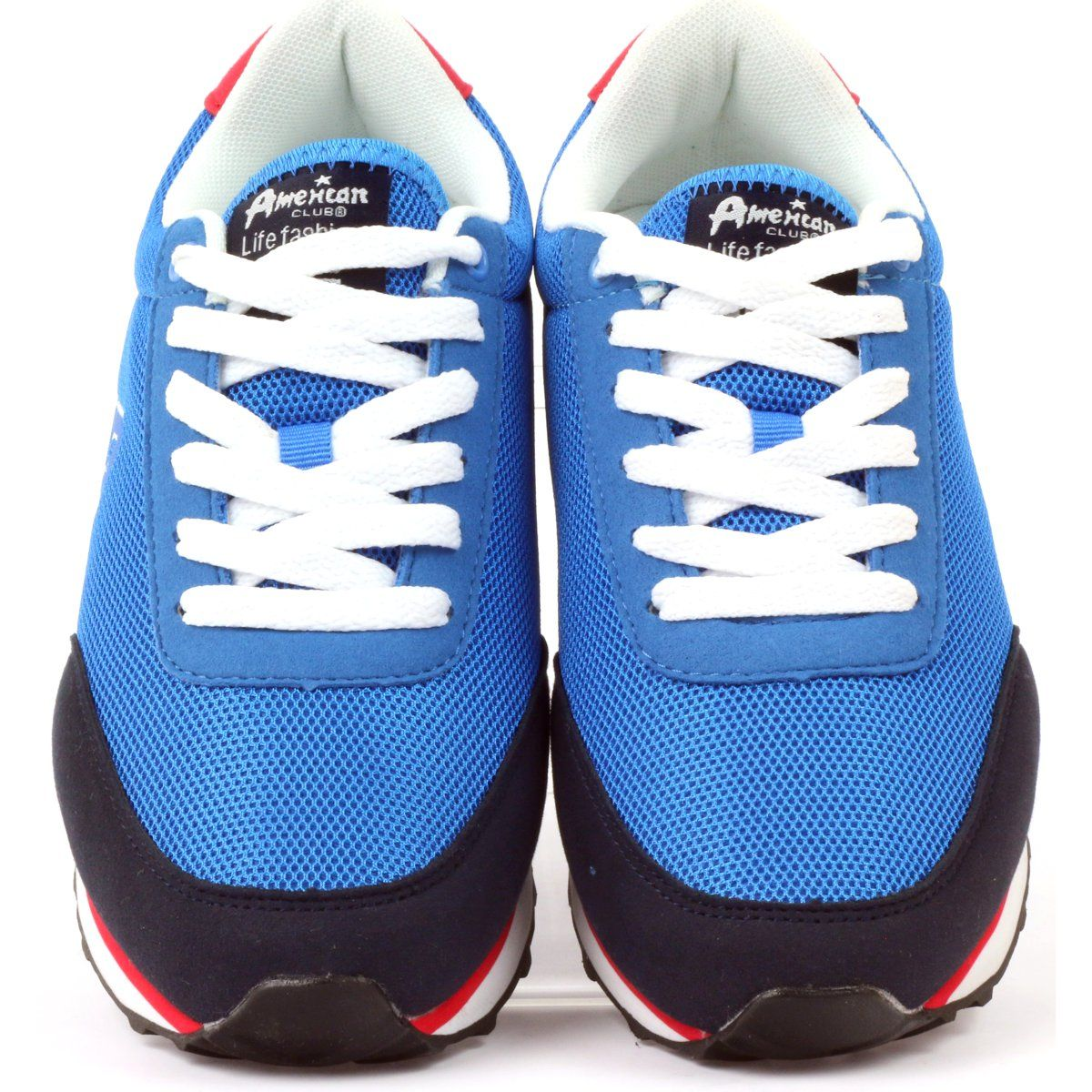 American Club Buty Sportowe Wiazane American Niebieskie Sports Shoes Shoes Club Heels