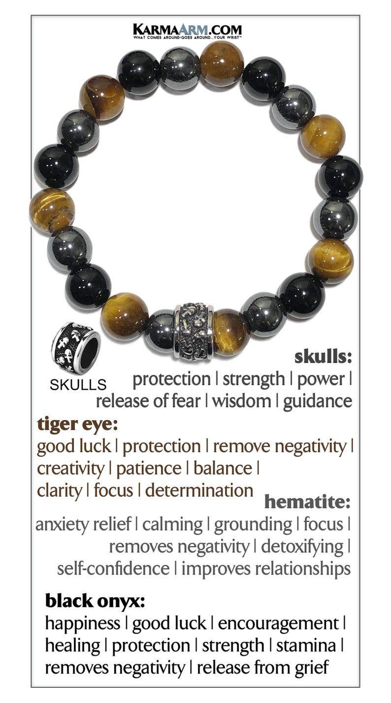 Reiki Boho Yoga Beaded Stretch Chakra Enlightenment Jewelry KarmaArm Zen Bracelet Breathe Bead Meditation Bracelet SELF-Care: Black Onyx