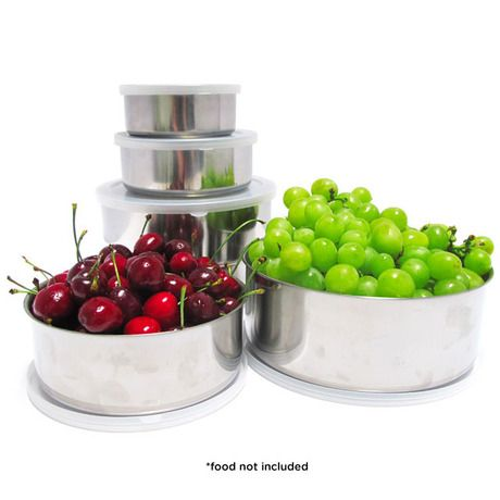 20 Piece Set Stainless Steel Bowls With Plastic Lids