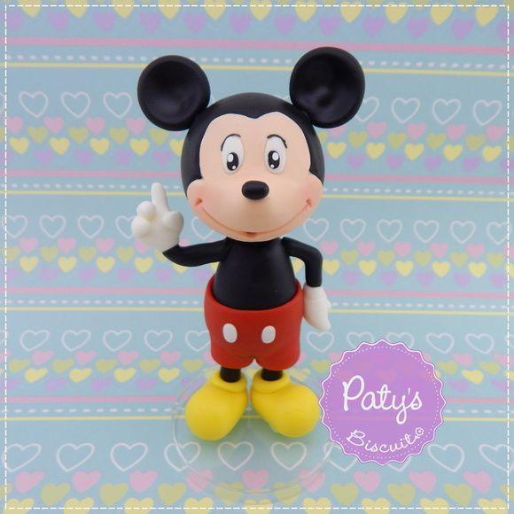 Miniatura / Topo de bolo Mickey Mouse - Festa Infantil - Paty's Biscuit
