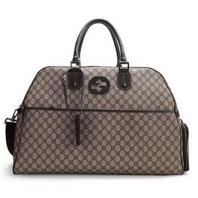 bd11dd3bb8 Gucci   Gucci Travel Luggage   Replica Gucci Duffel Travel Bag with  Interlocking G Detail 246306 Replica