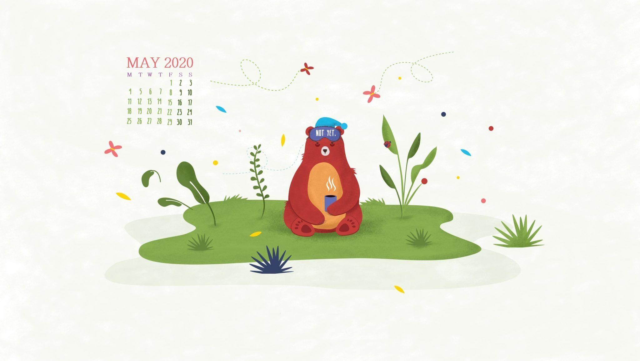 May 2020 Desktop Calendar Wallpaper in 2020 Calendar
