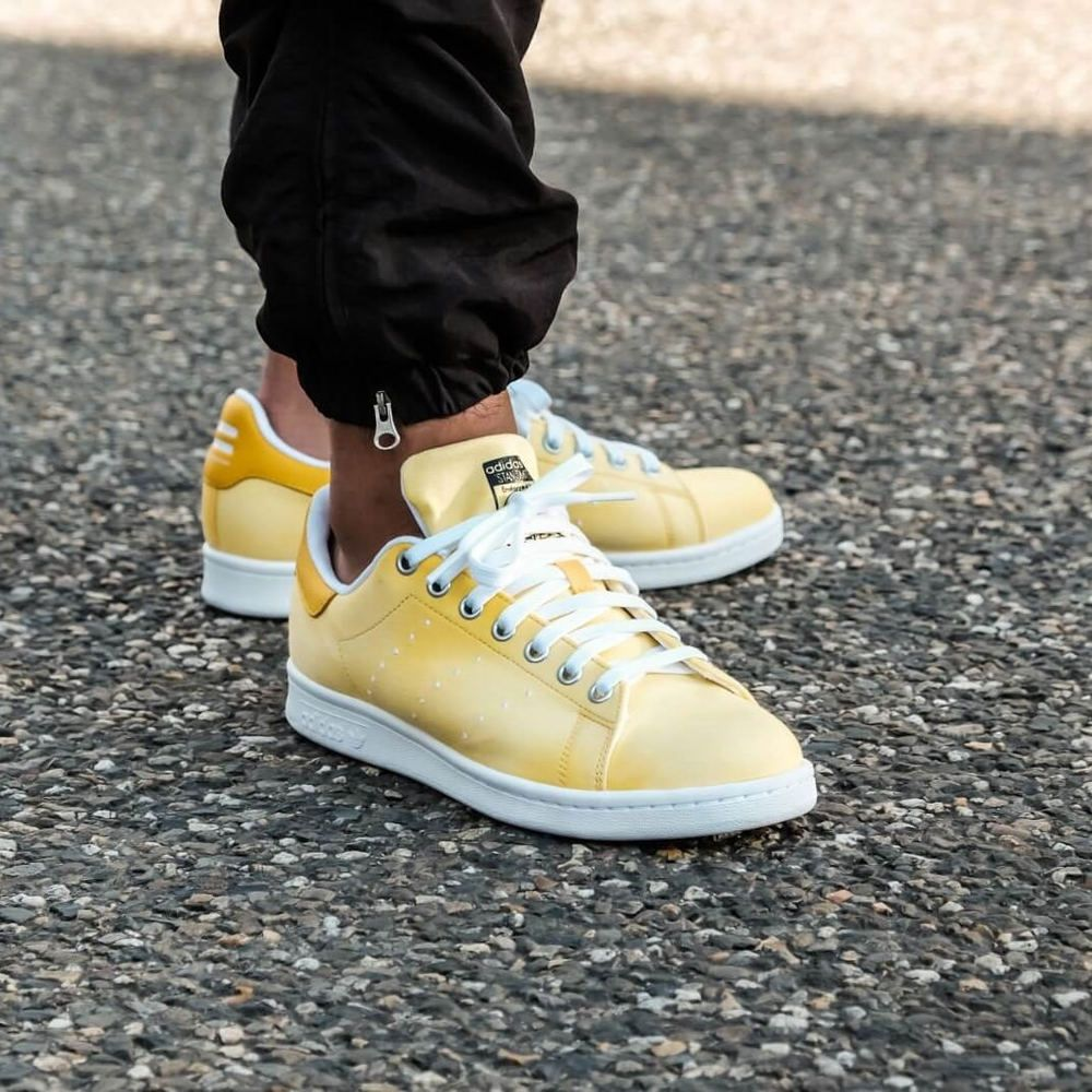 134ba6c5ea5d1 Adidas Pw Hu Holi Stan Smith Sneakers Yellow Size 7-12 MensNo NMD Boost  Ultra  Adidas  AthleticSneakers