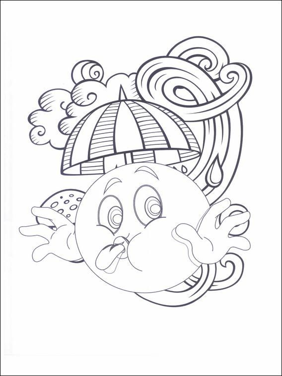 Emojis emoticons coloring pages 9