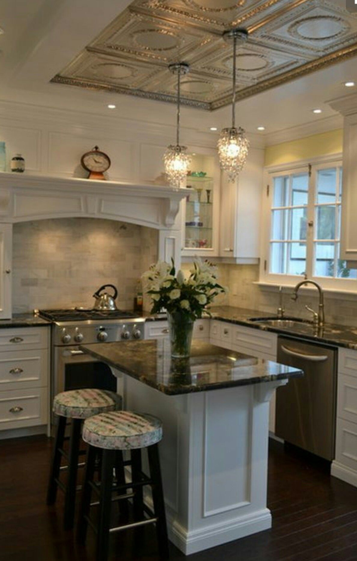 small luxurious kitchen island the granite is the