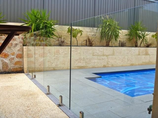 Pool Boundary Wall Images Google Search Glass Pool Fencing Garden Fence Panels Pool Fence