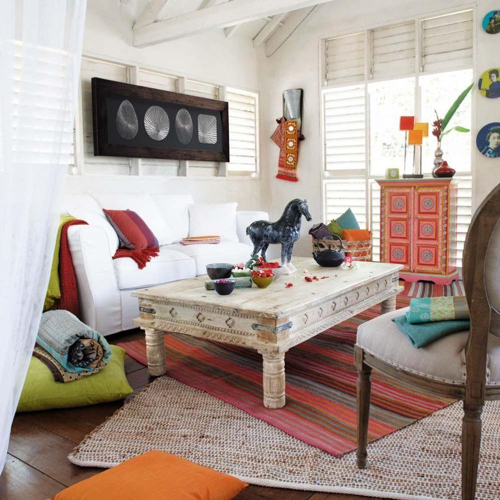 Zona giorno Maison du Monde #soggiorno #livingroom #bohemian ...
