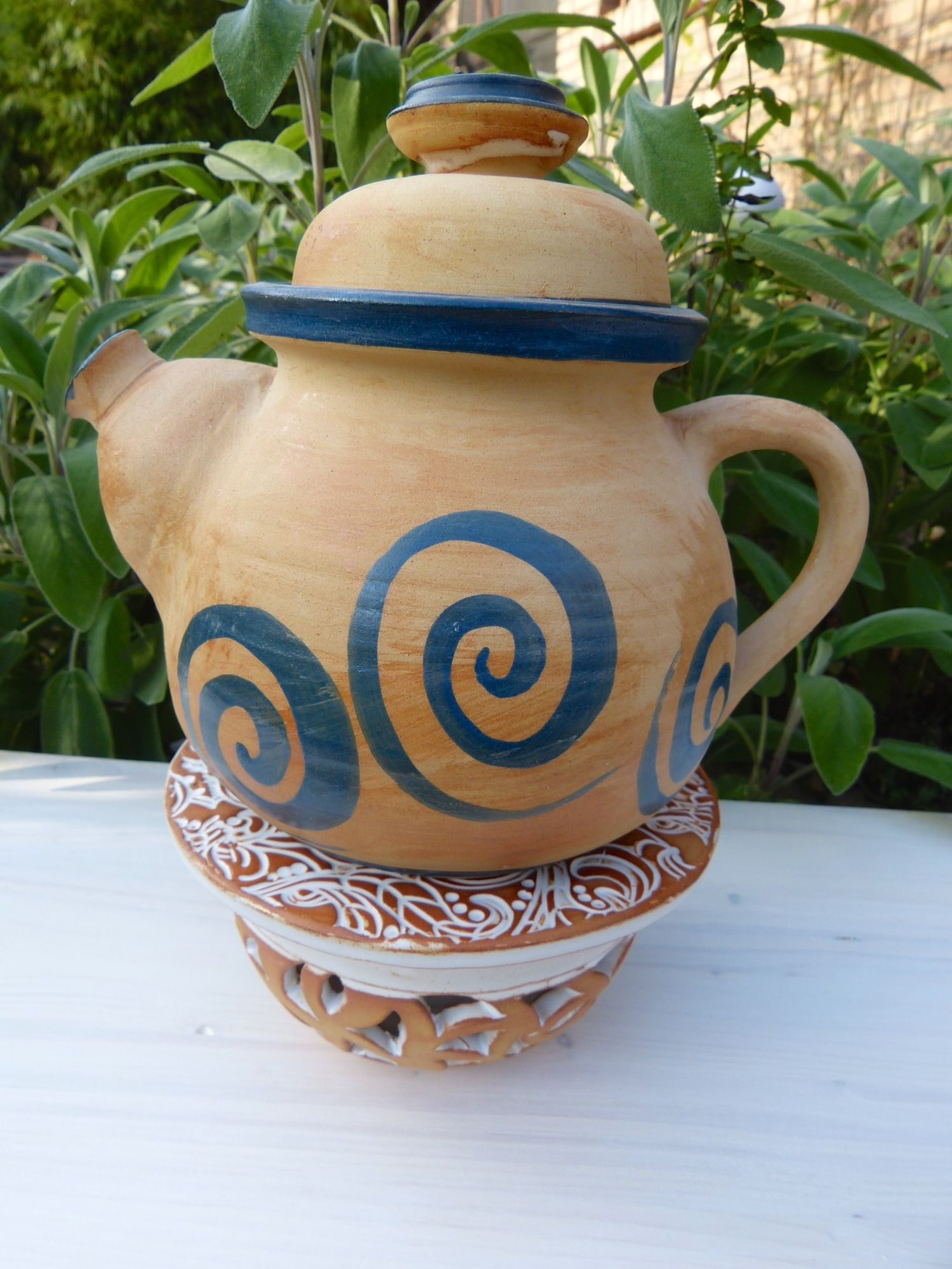 teekanne mit st vchen keramik keramik johanna br ckner. Black Bedroom Furniture Sets. Home Design Ideas