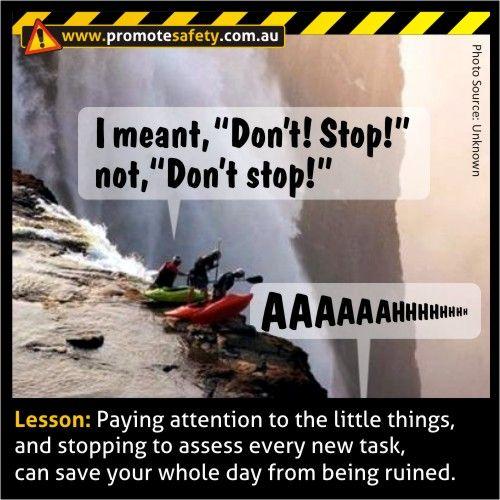 Funny Safety Meme. Don't Stop