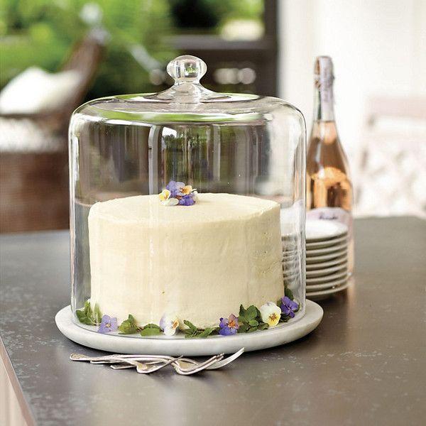 Ballard Designs Three Layer Cake Dome (£46) ❤ liked on Polyvore featuring home, kitchen & dining, serveware and ballard designs