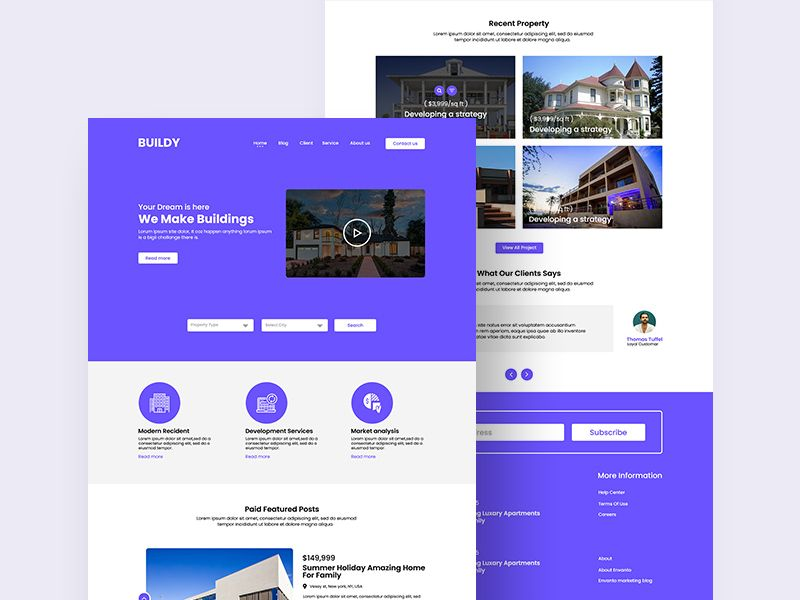 New Real Estate Themed Website Psd Mockup For Free Psd Website Website Template Psd