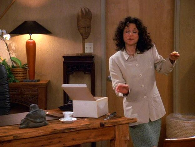 When She Went To Town On Peterman S 29 000 Cake Elaine Benes Seinfeld Elaines