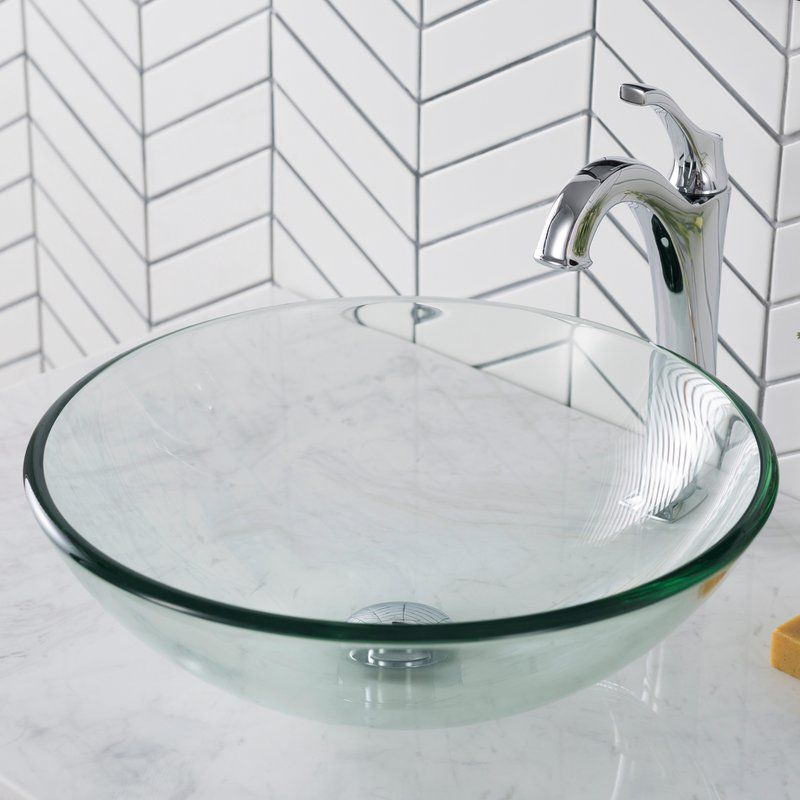 Glass Circular Vessel Bathroom Sink Bathroom Sink Sink Modern