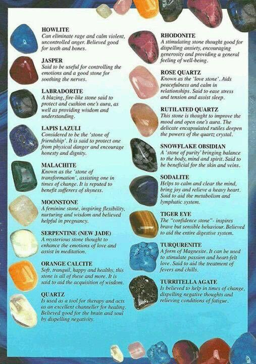 guide to crystals and semi precious stones gems pinterest rh pinterest com Yoga Guide Name of Precious Stone Gemstone