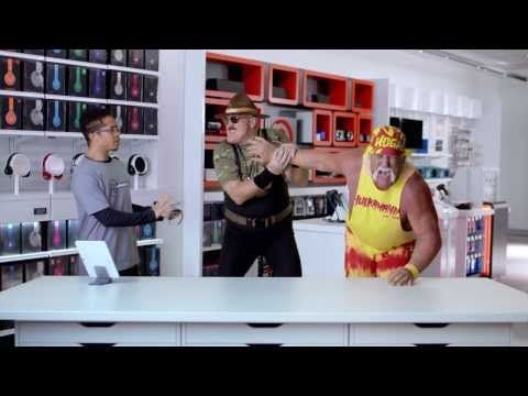 The Phone Call: RadioShack Commercial #InWithTheNew--One of the best Super Bowl commercials this year! The DeLorean at the end was the best! XD