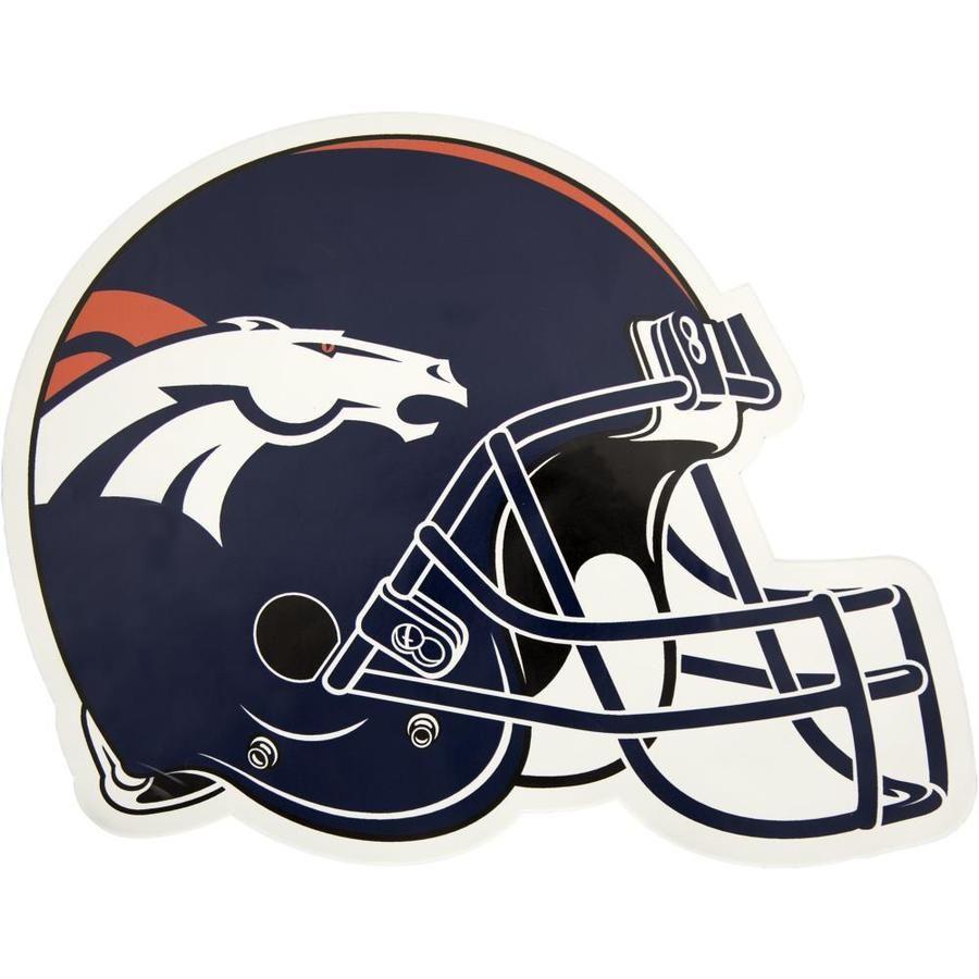 Applied Icon Den Broncos 12 In Outdoor Graphic Helmet Lowes Com In 2021 Broncos Helmet Football Helmets Denver Broncos Logo