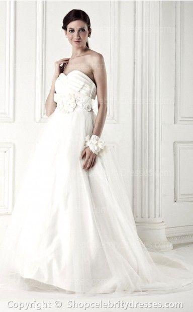 A-line Sweetheart Floor-length Wedding Dresses(SCW026)