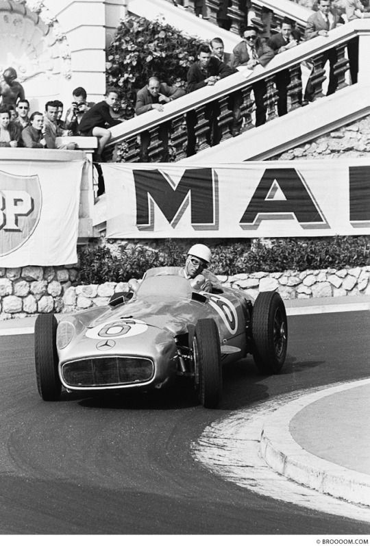 Stirling Moss (Mercedes W196) Grand Prix de Monaco 1955