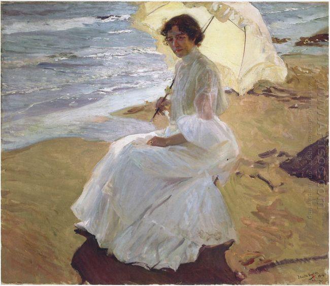 Clothilde Op Het Strand 1904
