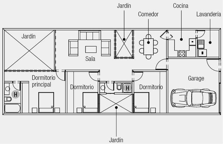 Planos de casas peque as buscar con google planos de for Planos de casas pequenas de una planta