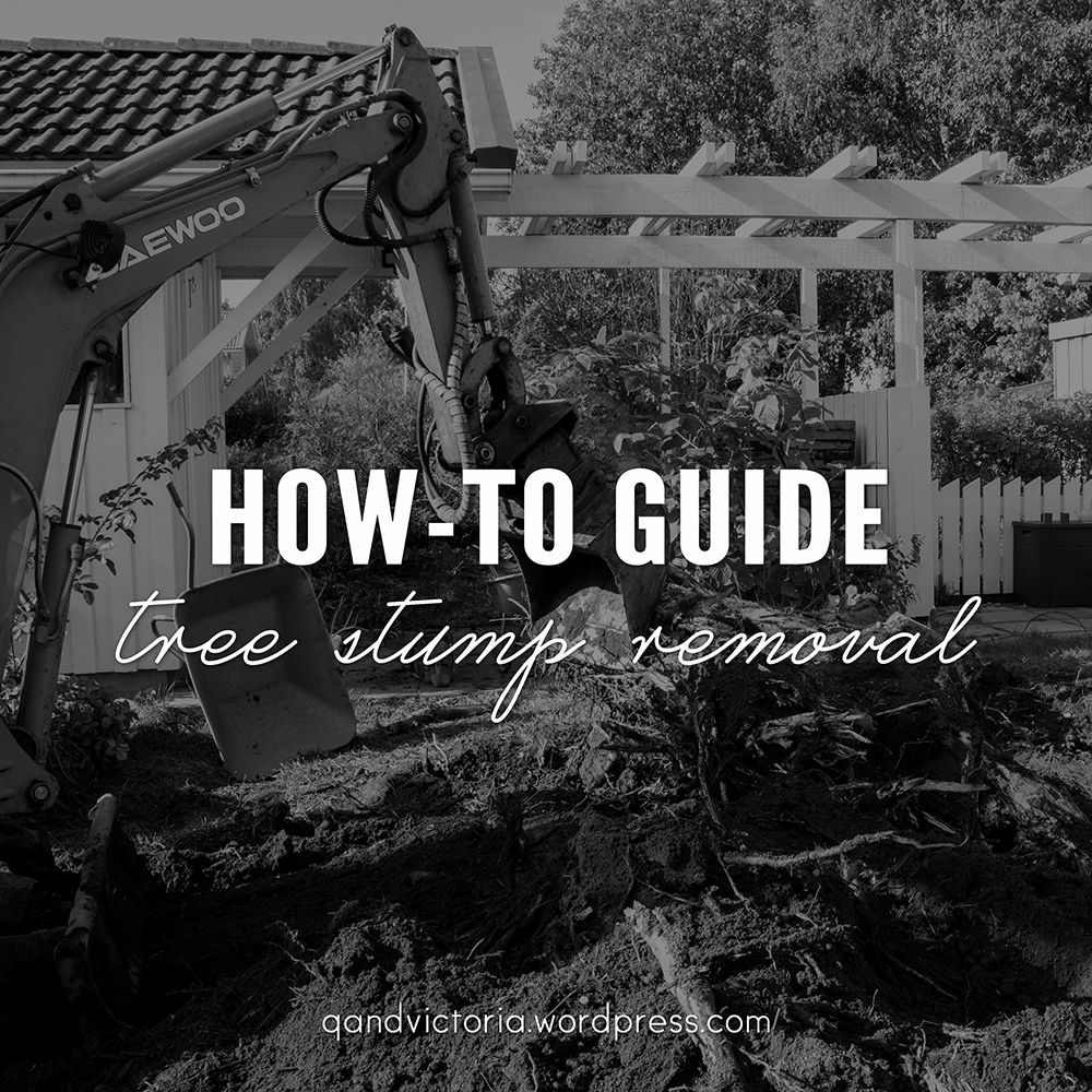 TREE STUMP REMOVAL How to remove, Stump removal, Tree stump