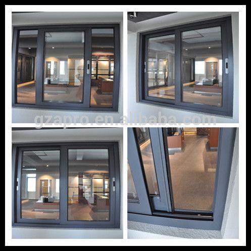 Modern House Design Aluminum Sliding Window Handle Lock With Fly Screen Aluminium Product On