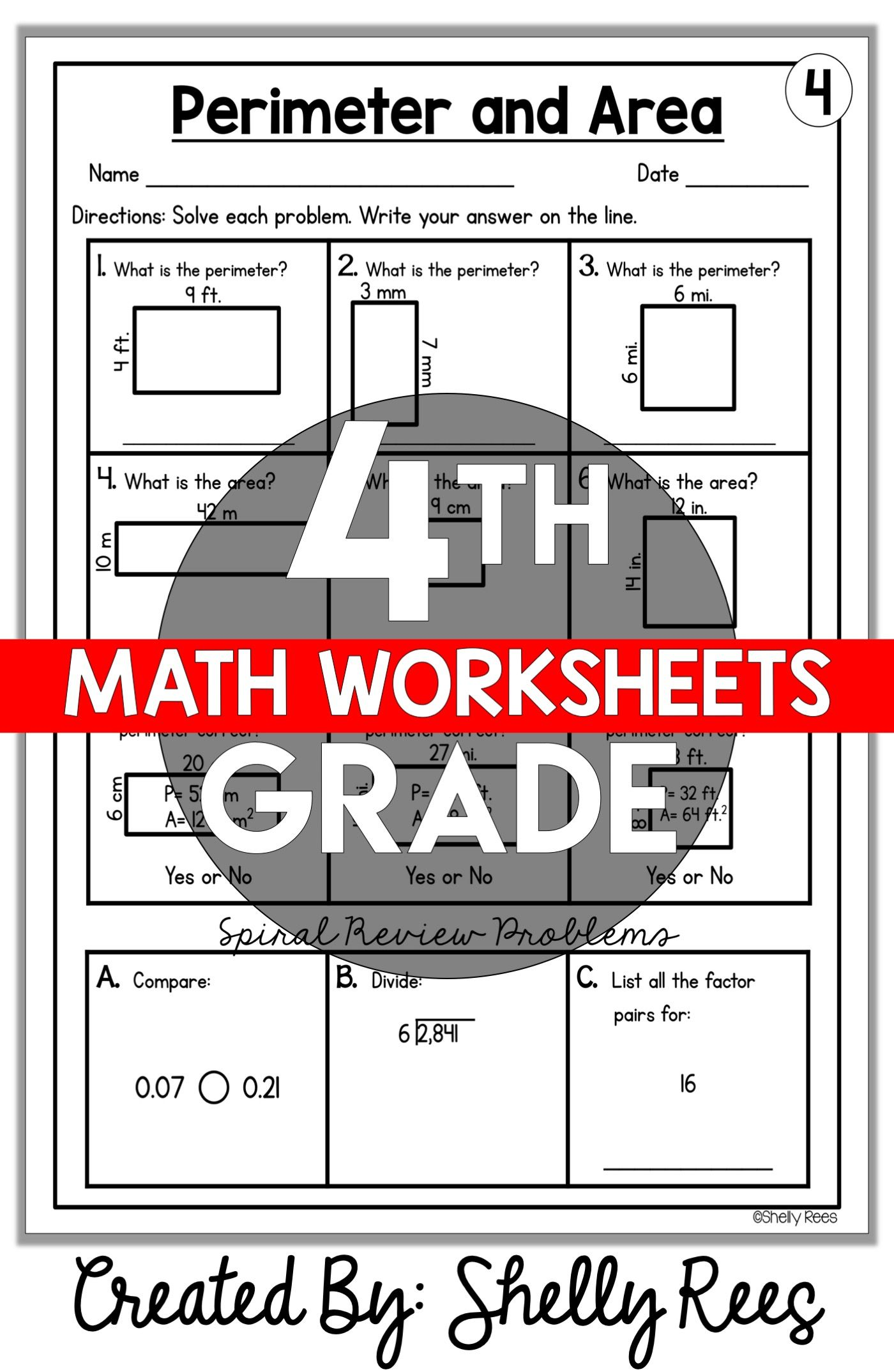 4th Grade Math Worksheets Free and Printable - Appletastic Learning   Math  worksheets [ 2148 x 1400 Pixel ]