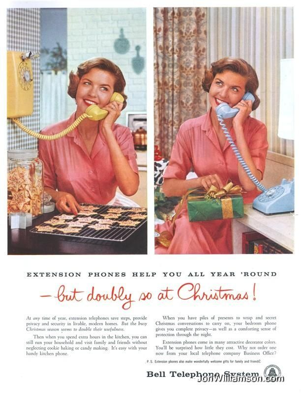 vintage telephone christmas ad - Bing images