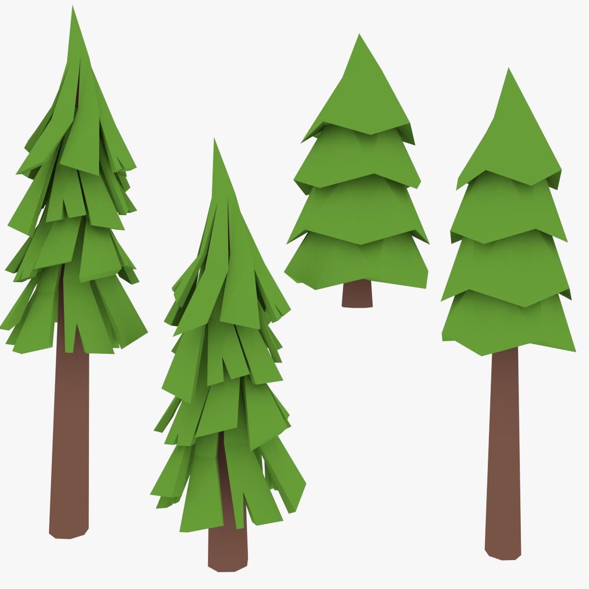 Lowpoly Pine Trees2 Pine Tree Drawing Family Tree Artwork Tree Drawing