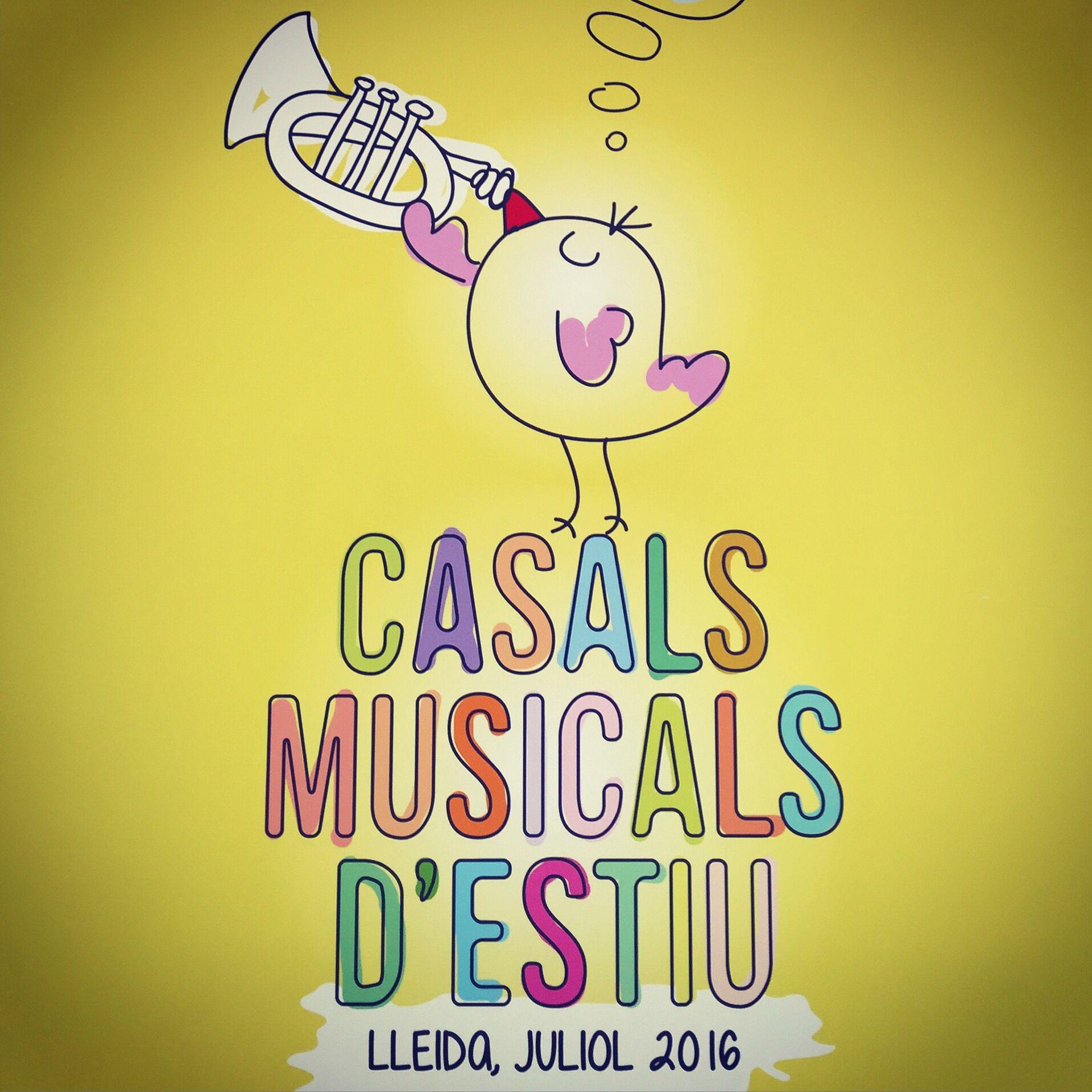 Ilustración para el cartel de campaña de la Escola L'Intèrpret de Lleida. Diseño de @cr3ativa