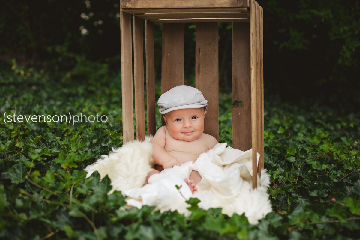 3 month photo shoot idea  Crate used to prop baby up wwwkstevensonphotocom  Portfolio