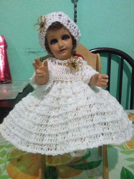Pin De Mimi Creacciones En Vestidos Para Niño Dios Tejidos A