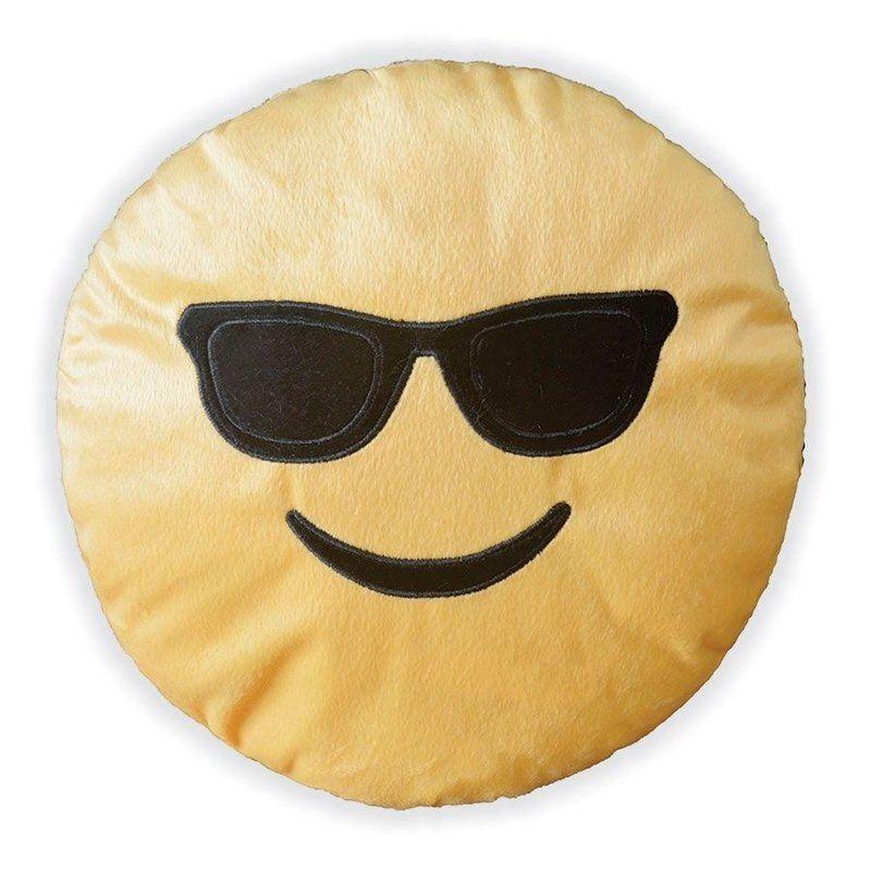 0603e441f7a28 A super estilosa Almofada Decorativa Whatsapp - Emoji Óculos De Sol ficará  mavavilhosa na sua casa
