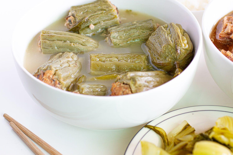 Vietnamese Stuffed Bitter Melon Soup (Canh Khổ Qua Nhồi