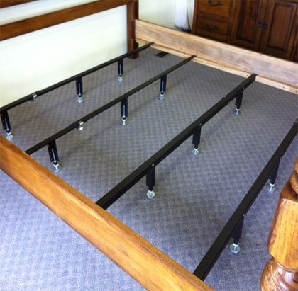Universal Steel Bed Center Support Bars Rails To Brace King Queen