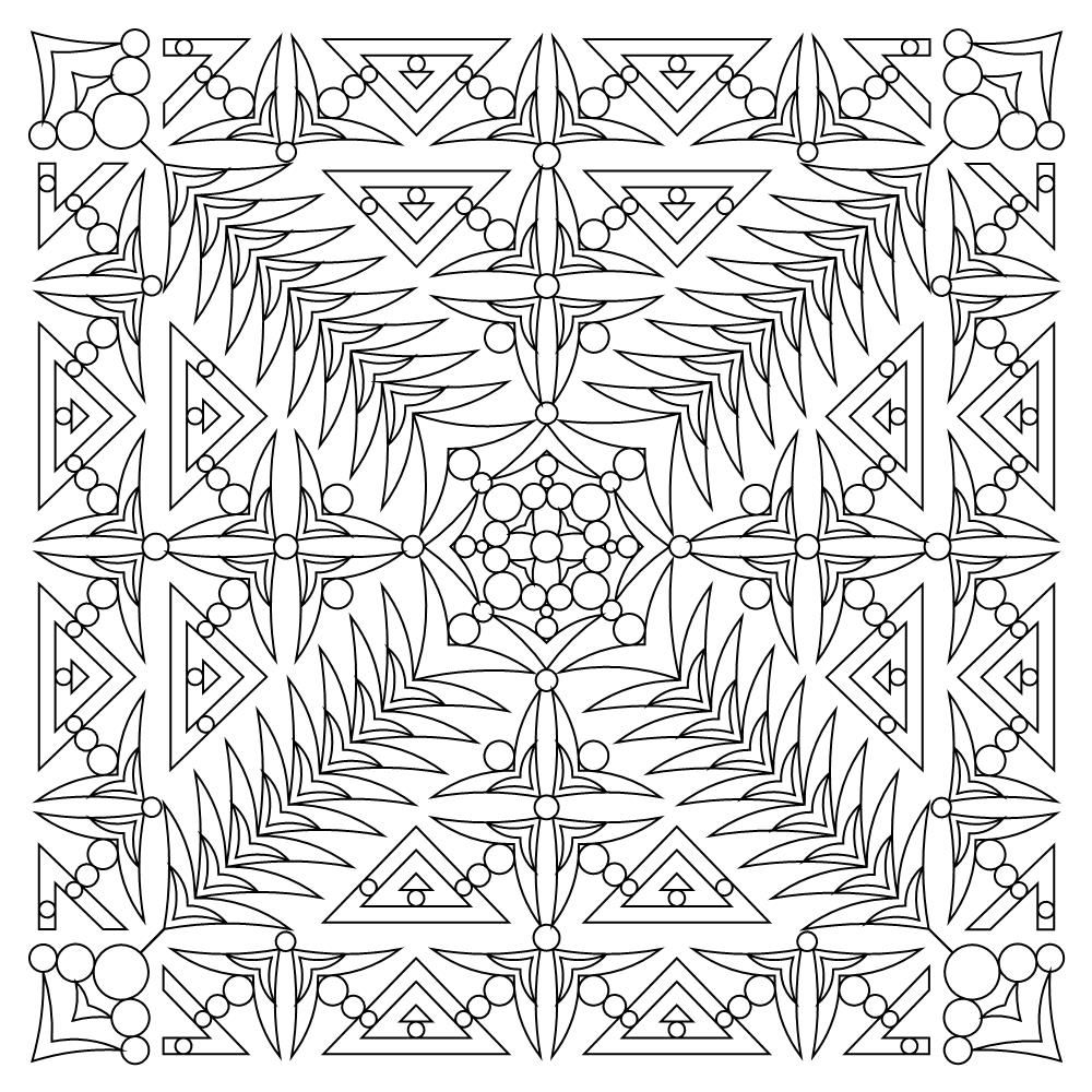 Gemstone Block 007 Coloring Pages Quilting Designs Quilt Stitching