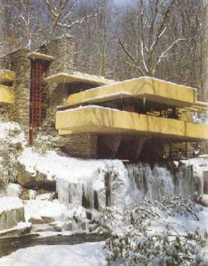 Frank Lloyd Wright - /this is the first time I've seen a picture of Falling Water in the Winter