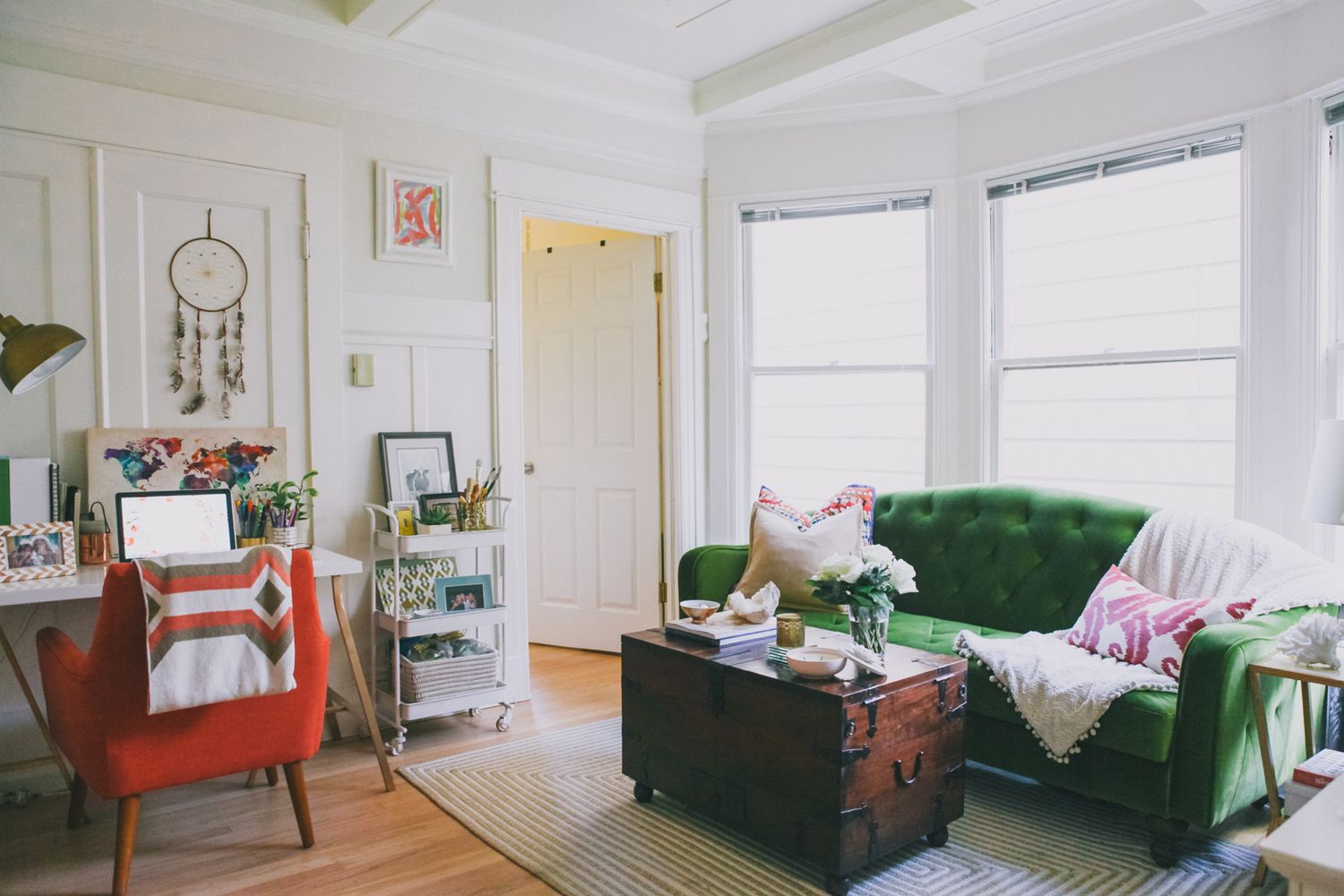 This stylish apartment is filled with dos and diys san for The family room psychological services