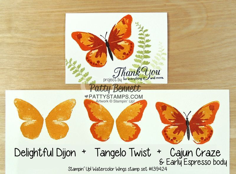 watercolor wings stampin up stamp set butterfly card pattystamps delightful dijon water wings. Black Bedroom Furniture Sets. Home Design Ideas