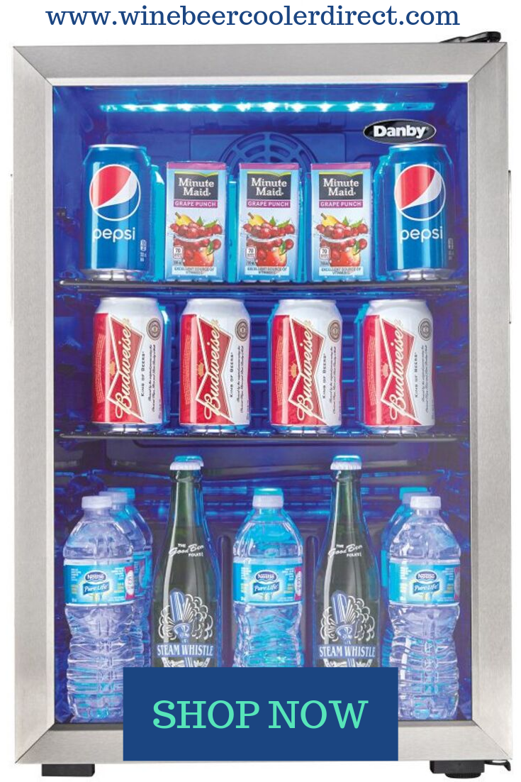 Danby 17 5 Freestanding 95 Can Capacity Beverage Center Dbc026a1bssdb Beverage Center Danby Tempered Glass Door