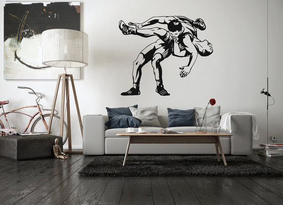 Wall Vinyl Sticker Room Decal Wrestling Jiu Jitsu Greco Roman