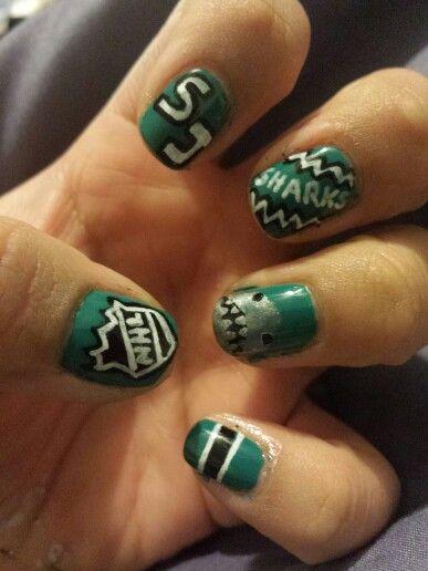 Sj Sharks Nail Designs Natural Nails Nails