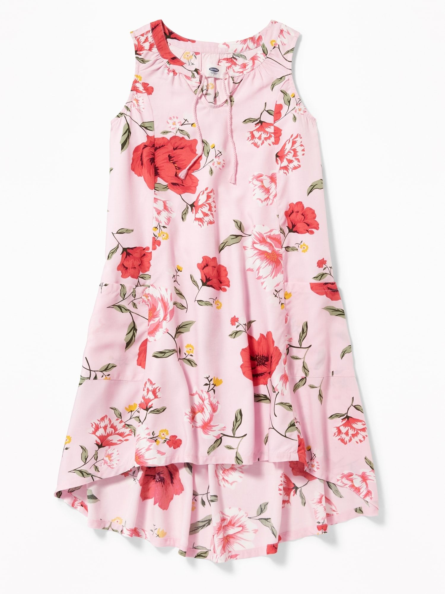 Sleeveless Floral Hi Lo Dress For Girls Old Navy Dresses Girls Dresses Online Girls Dresses