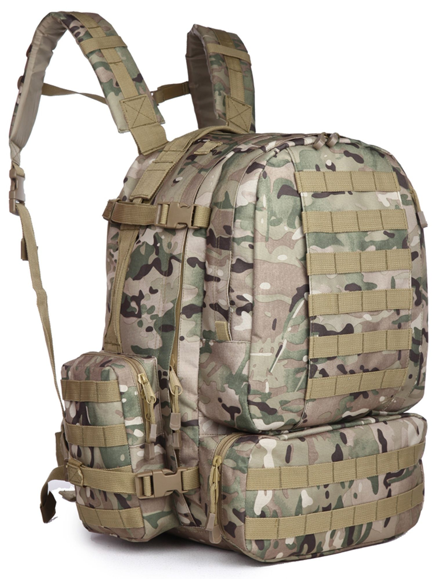 f851bd8b5d Military Rucksacks Tactical Molle Backpack Big 50-60L Camping Hiking  Trekking assault 3-days Sport Outdoor Travel Bag Big