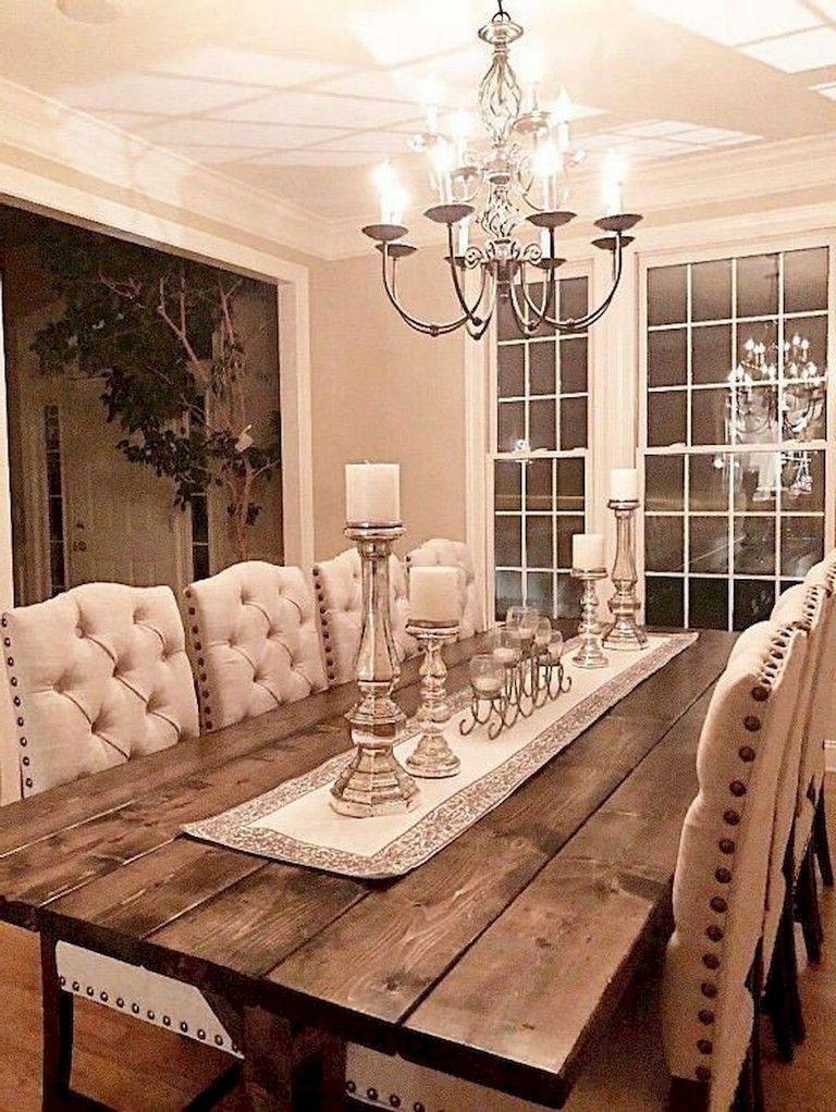 119 Marvelous Modern Farmhouse Dining Room Design Ideas ... on Farmhouse Dining Room Curtain Ideas  id=83722