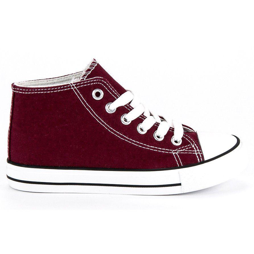 Buty Sportowe Dzieciece Dla Dzieci Butymodne Czerwone Wiazane Trampki Nad Kostke Butymodne High Top Sneakers Sneakers Shoes